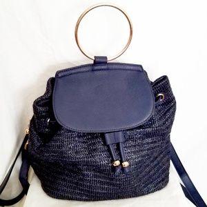 Lauren Conrad Navy Blue Backpack Purse